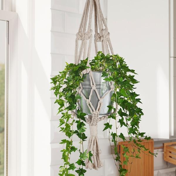 MIDDAGSSOL Plant pot hanger, white