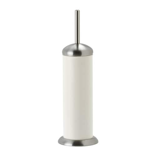 IKEA MJÖSA toilet brush/holder Interior plastic container is easy to remove for cleaning.