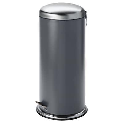 MJÖSA Pedal bin, dark grey, 30 l