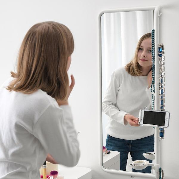 MÖJLIGHET Mirror, white, 34x81 cm