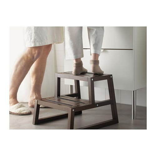 molger step stool dark brown 41x44x35 cm ikea. Black Bedroom Furniture Sets. Home Design Ideas