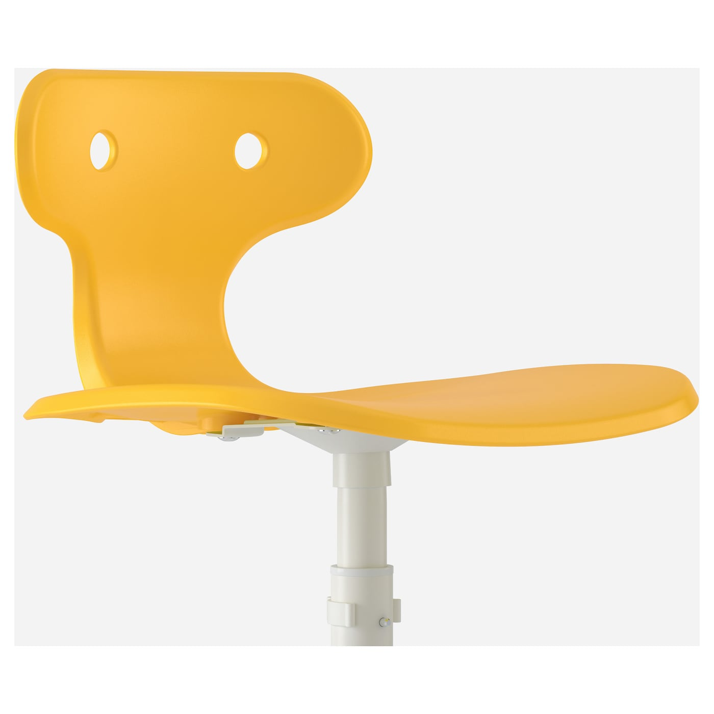 IKEA MOLTE desk chair Your back gets support and extra relief from the built-in lumbar support.