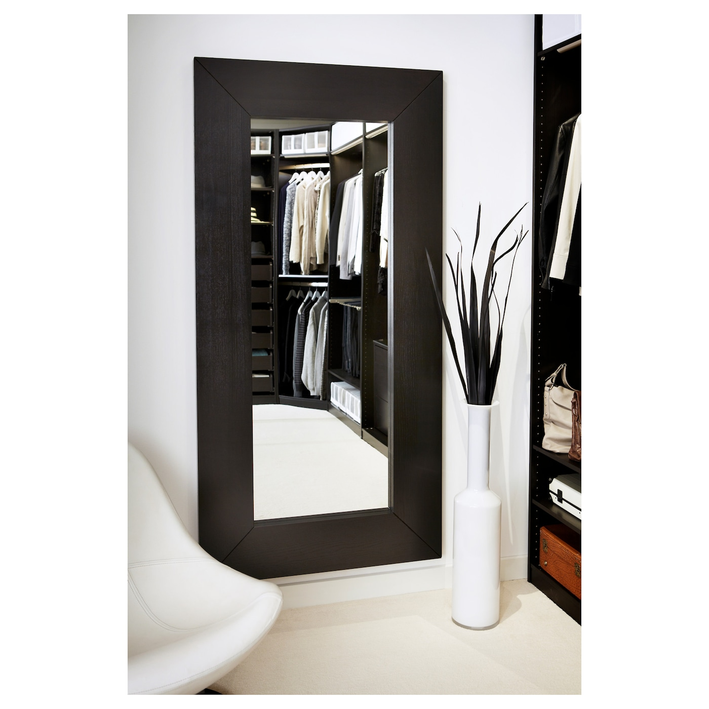 mongstad mirror black brown 94 x 190 cm ikea. Black Bedroom Furniture Sets. Home Design Ideas
