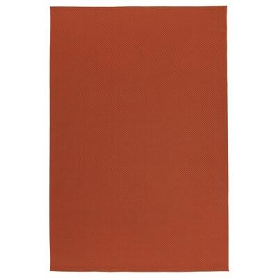 MORUM Rug flatwoven, in/outdoor, rust, 200x300 cm