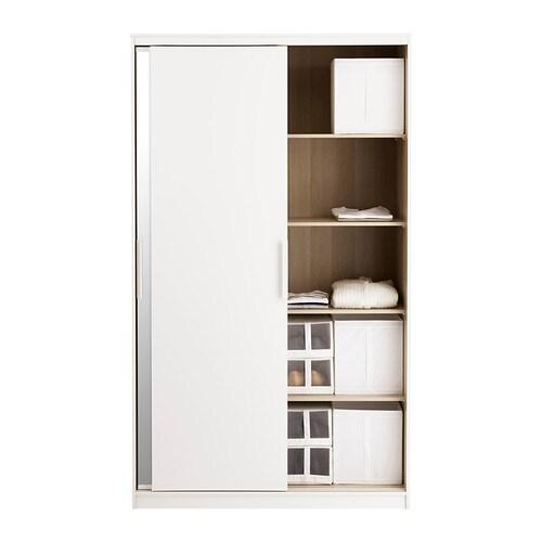 morvik wardrobe white mirror glass 120x205 cm ikea. Black Bedroom Furniture Sets. Home Design Ideas
