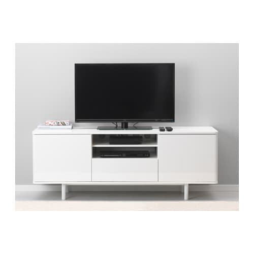 Mostorp tv bench white 159x46 cm ikea - Meuble tele blanc ikea ...