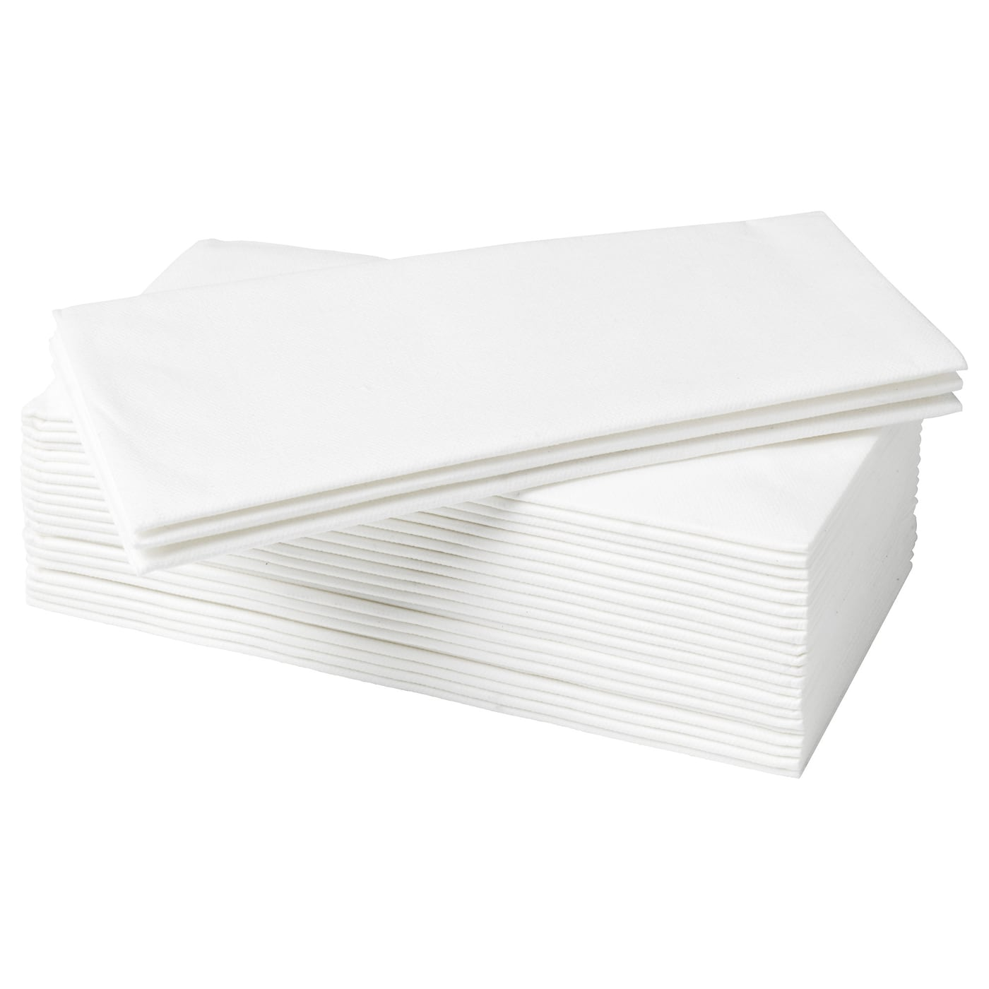 IKEA MOTTAGA paper napkin Has a paper quality that looks and feels like textile napkins.