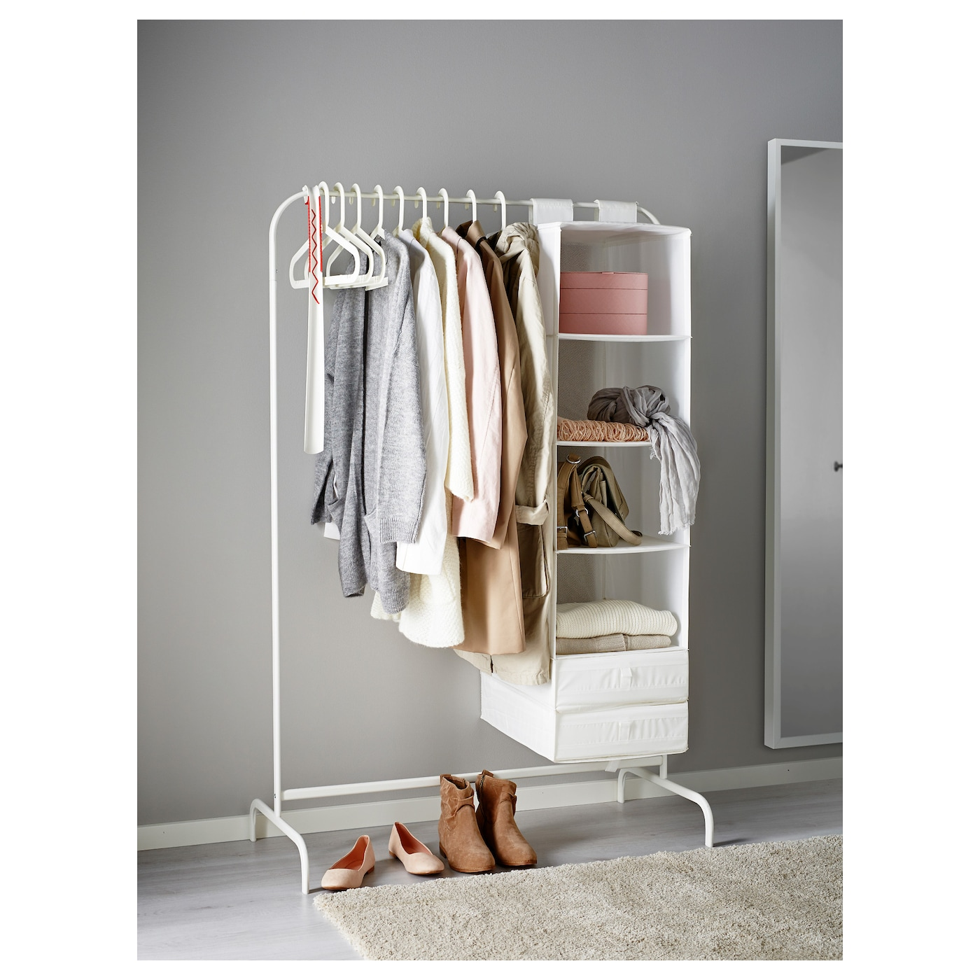 Clothes Rack: MULIG Clothes Rack White 99 X 46 Cm