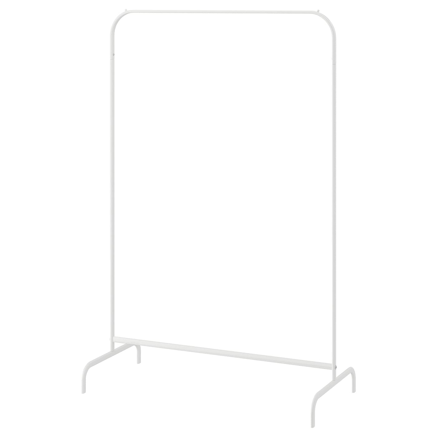 IKEA MULIG clothes rack The plastic feet protect the surface against scratching.
