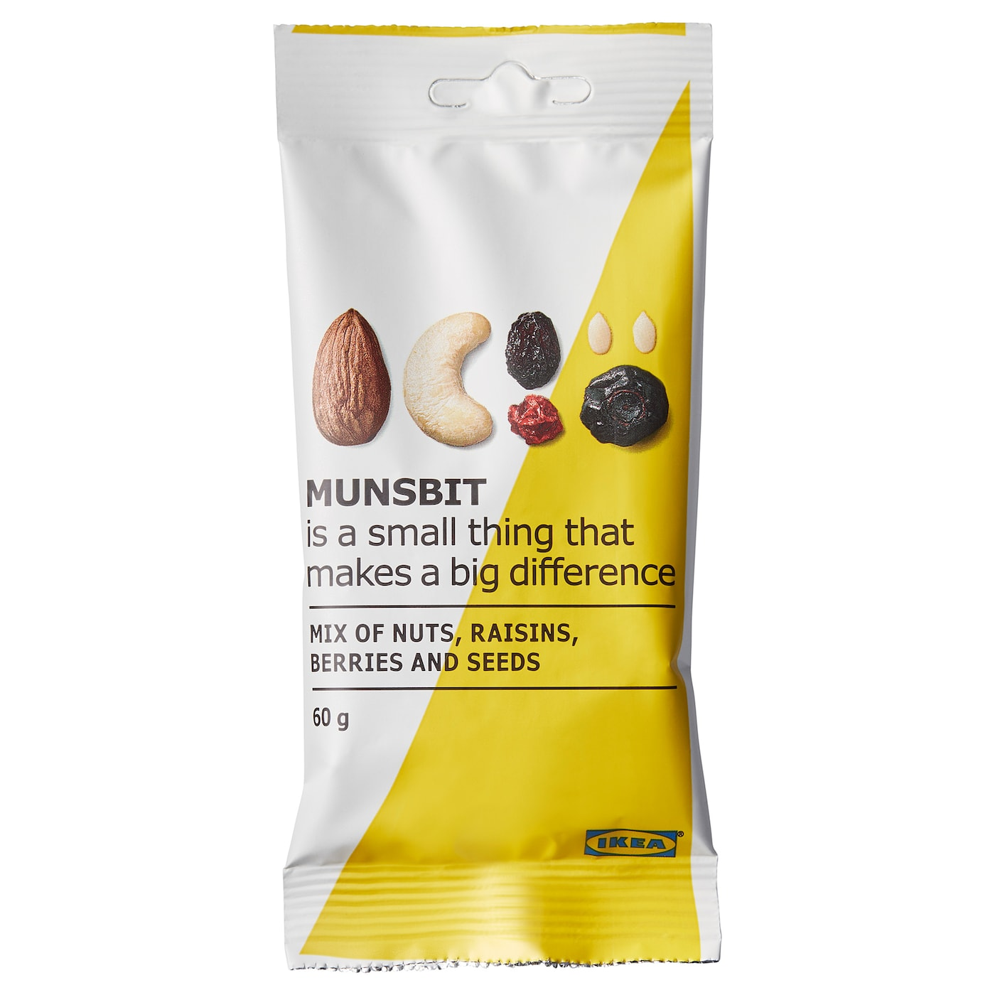 IKEA MUNSBIT natural nuts/berries/raisins A timesaver. Fuel up in a flash and keep going.