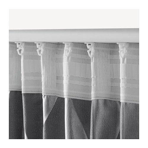 Murruta Curtains 1 Pair Grey 145x300 Cm Ikea