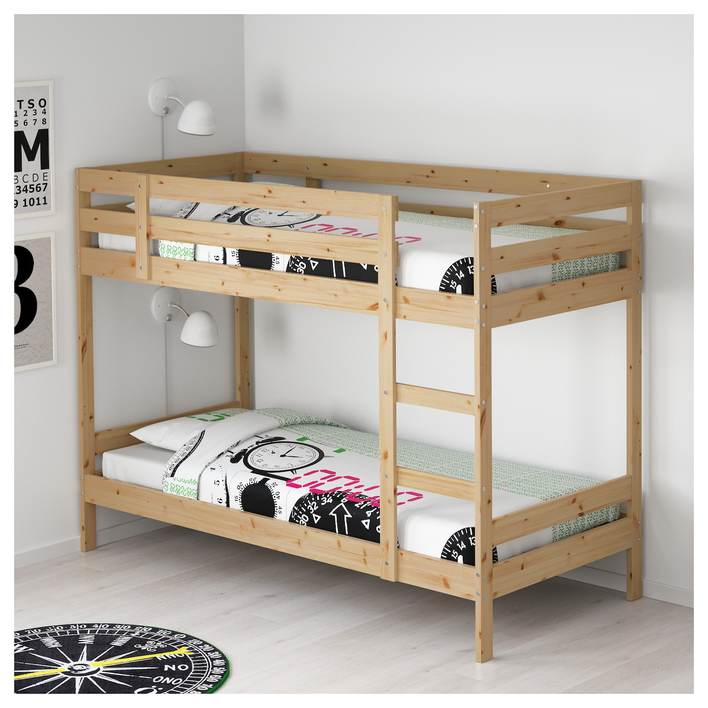 mydal bunk bed frame pine 90x200 cm ikea. Black Bedroom Furniture Sets. Home Design Ideas