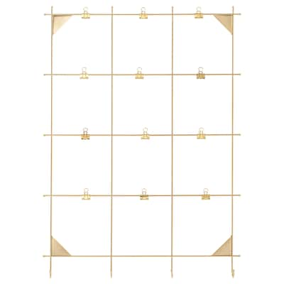 MYRHEDEN Memo board with clips, brass-colour