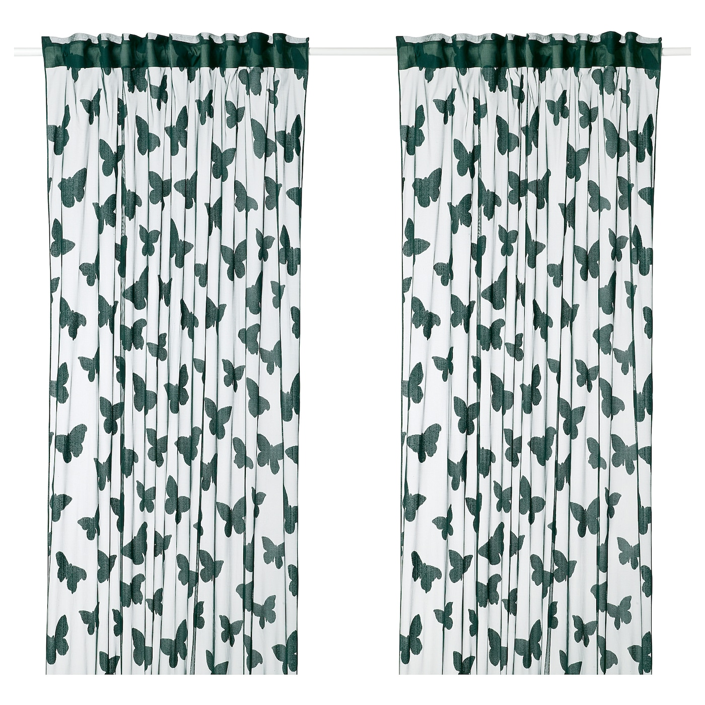 IKEA NÄSSELFJÄRIL net curtains, 1 pair The curtains can be used on a curtain rod or a curtain track.