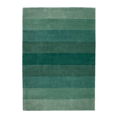 N 214 Debo Rug Low Pile Handmade Green 170x240 Cm Ikea