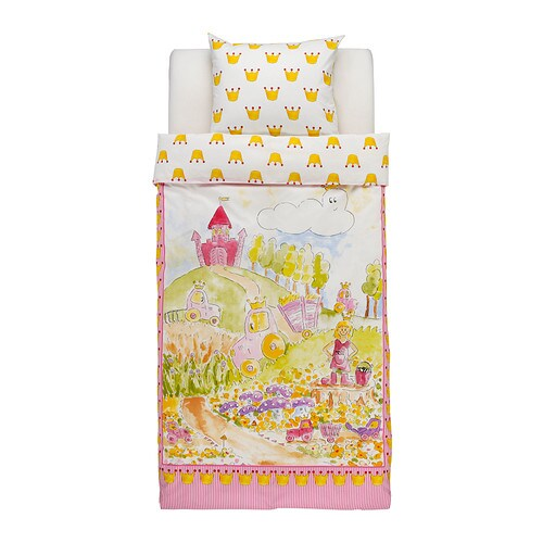 IKEA NATURKÄR quilt cover and pillowcase Cotton, soft and nice against your child's skin.