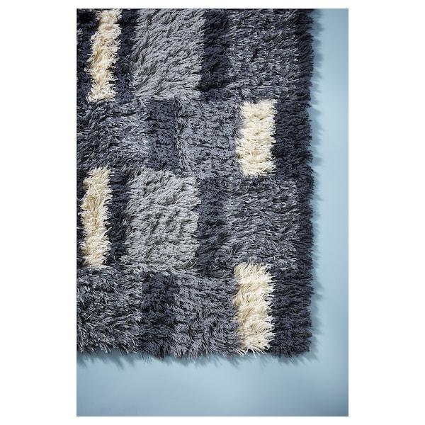 NAUTRUP Rug, high pile, multicolour, 133x195 cm
