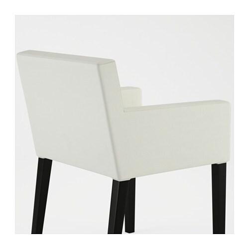 NILS Chair with armrests Black  blekinge white   IKEA
