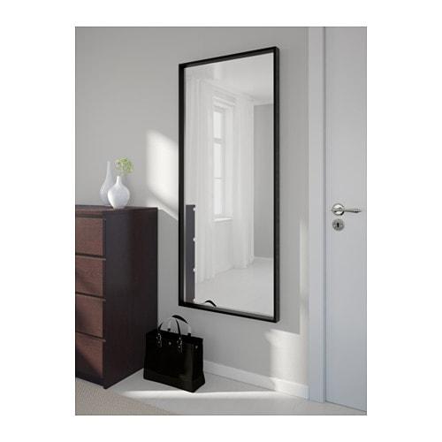 Nissedal mirror black 65x150 cm ikea for Miroir nissedal