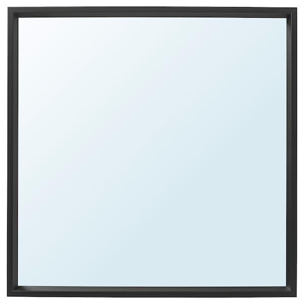 NISSEDAL Mirror, black, 65x65 cm