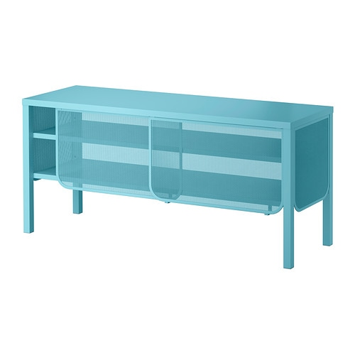 IKEA NITTORP TV bench Sliding doors do not take up any space when opened.