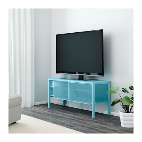 Nittorp tv bench turquoise 122x55 cm ikea - Armoire casier metal ikea ...