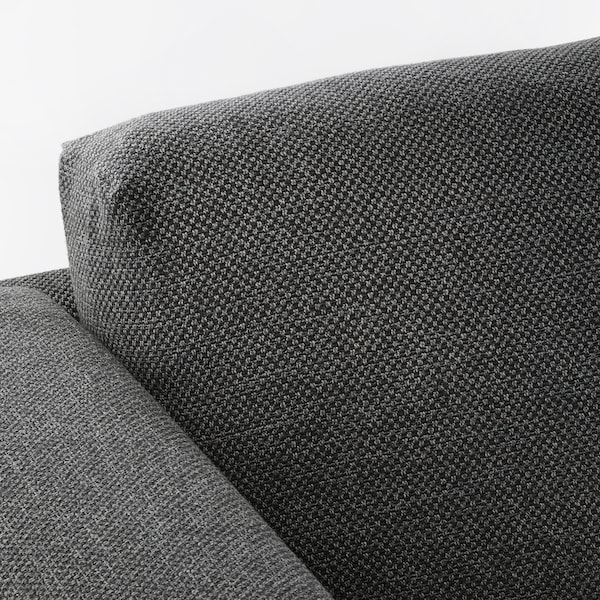 NOCKEBY 3-seat sofa with chaise longue, left/Lejde dark grey/wood 277 cm 82 cm 97 cm 175 cm 15 cm 60 cm 138 cm 44 cm