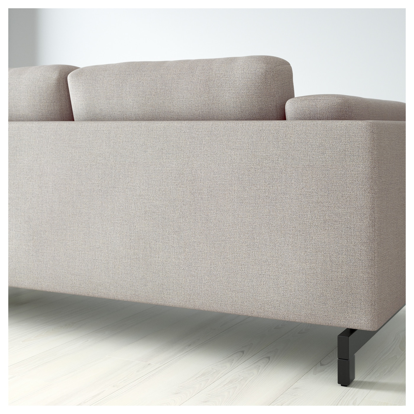 NOCKEBY 3 seat sofa With chaise longue left tenö light grey wood