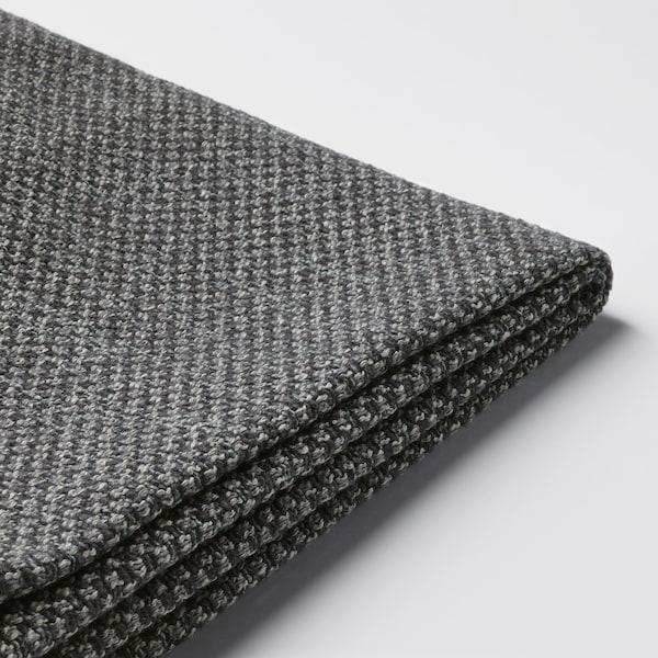 NOCKEBY cover for 3-seat sofa Lejde dark grey/with chaise longue, left