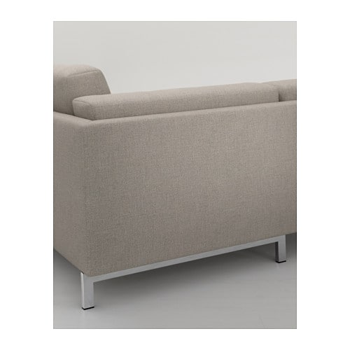 Nockeby legs f 2 seat sofa w chaise longue chrome plated for Ikea sofa legs interchangeable