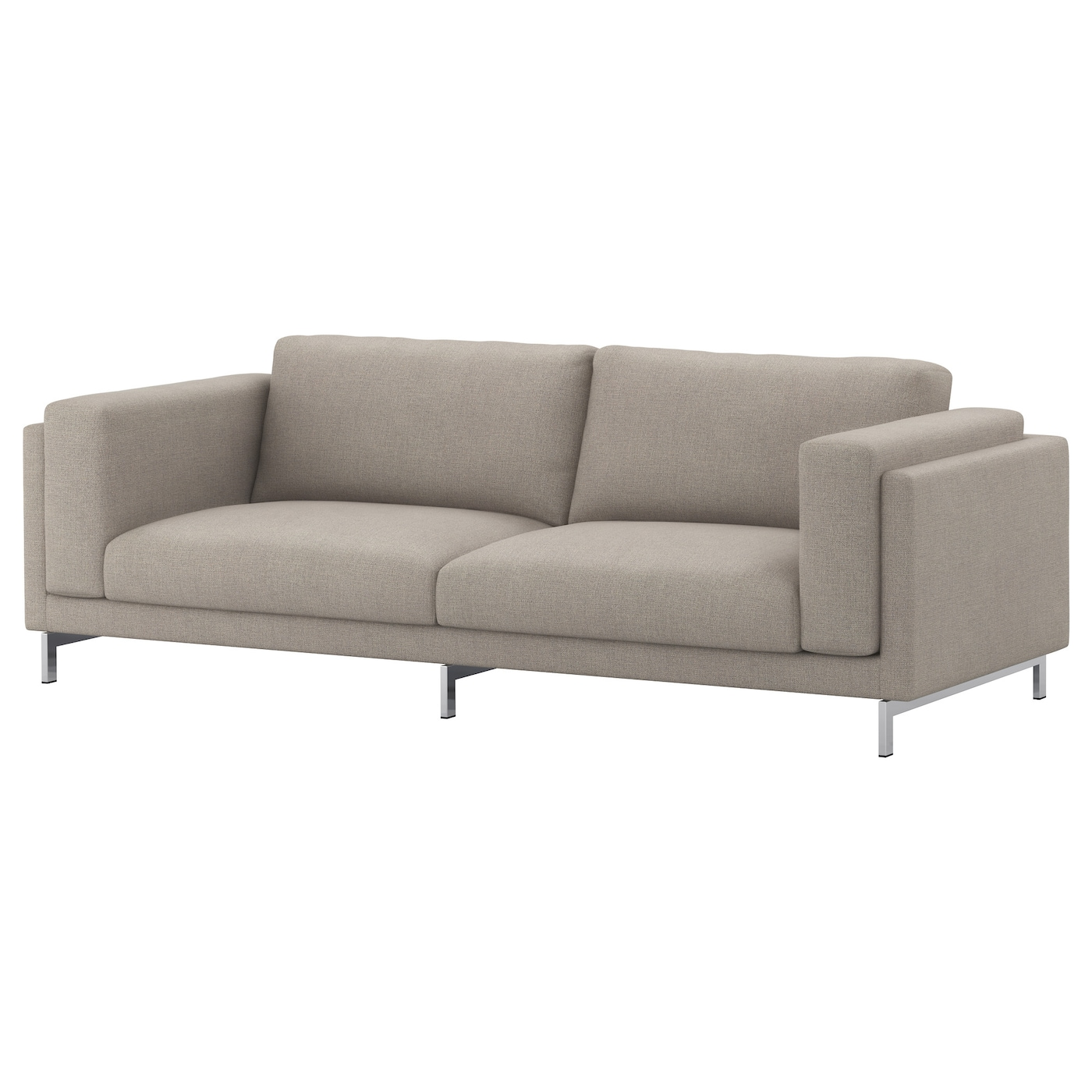Nockeby legs for 3 seat sofa chrome plated ikea for Sofa nockeby