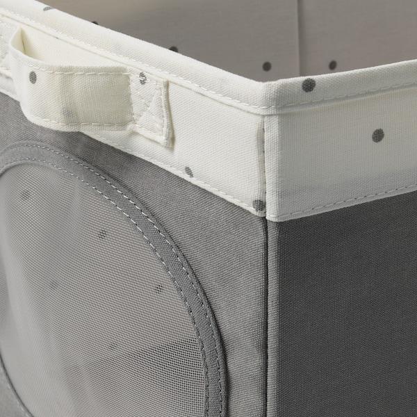 NÖJSAM Box and basket, grey, 25x37x22 cm