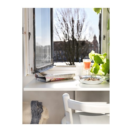 Jugendzimmer Ideen Mädchen Ikea ~ NORBERG Wall mounted drop leaf table White 74×60 cm  IKEA