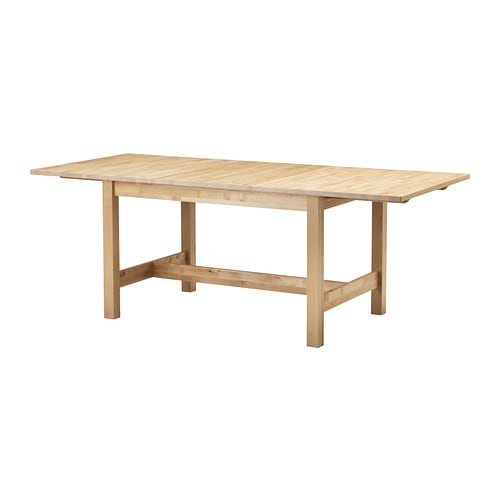 Norden extendable table birch 155 210x90 cm ikea - Birch kitchen table ...