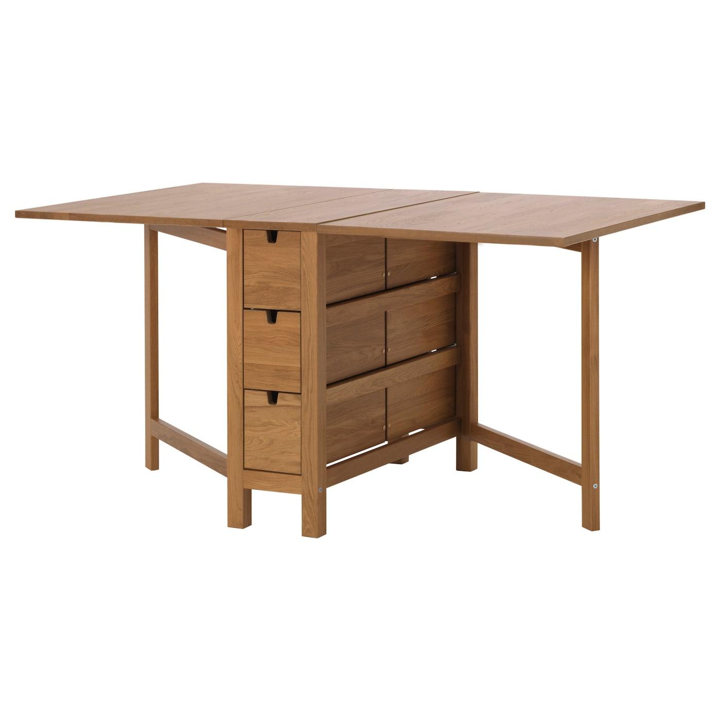 Norden gateleg table oak 26 89 152x80 cm ikea for Table norden ikea