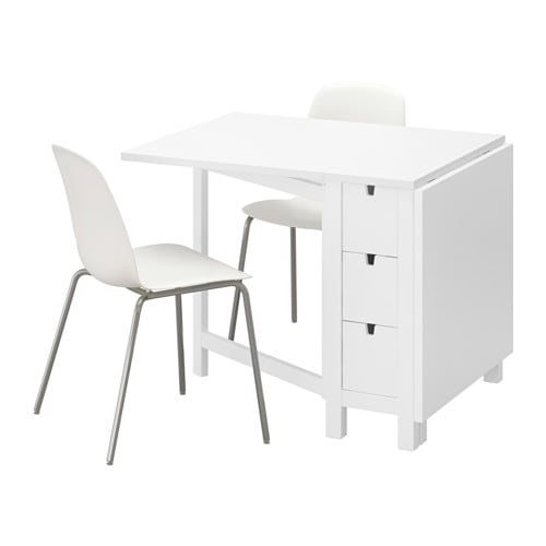 IKEA NORDEN/LEIFARNE table and 2 chairs