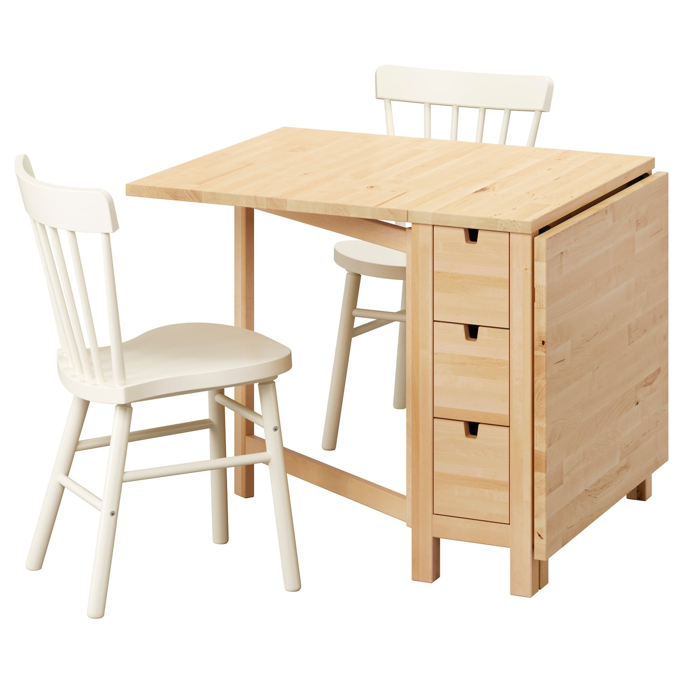 Ikea norden norraryd table and 2 chairs solid wood is a hardwearing natural material