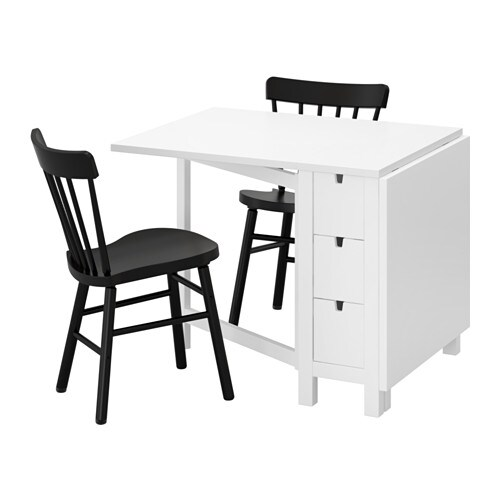 IKEA NORDEN/NORRARYD table and 2 chairs