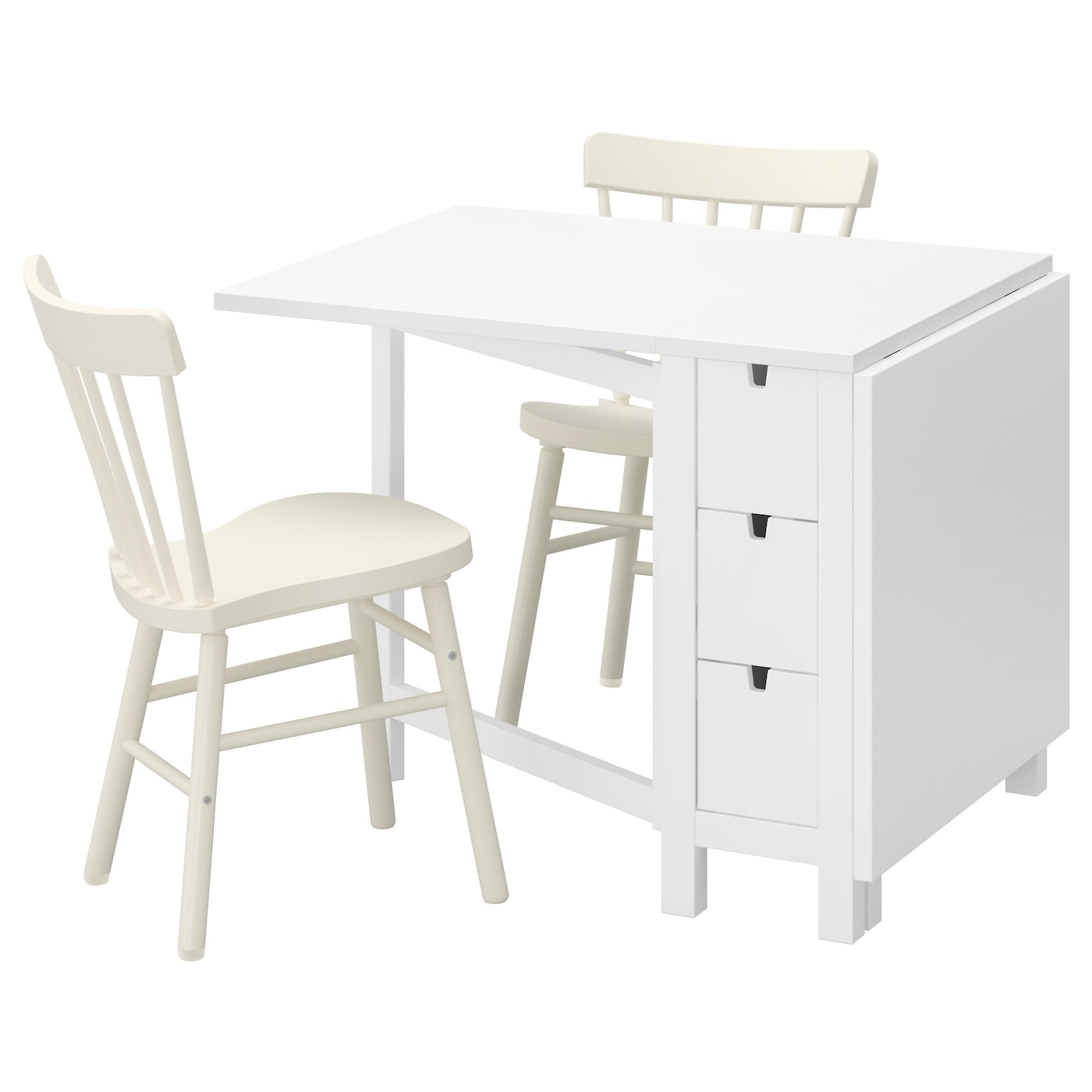 norden norraryd table and 2 chairs white white 89 cm ikea. Black Bedroom Furniture Sets. Home Design Ideas