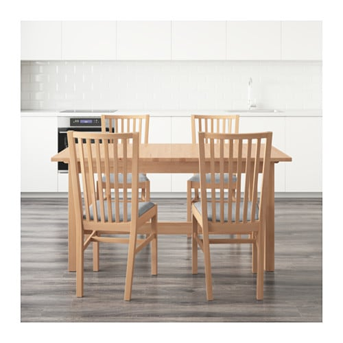 IKEA NORDEN/NORRNÄS table and 4 chairs