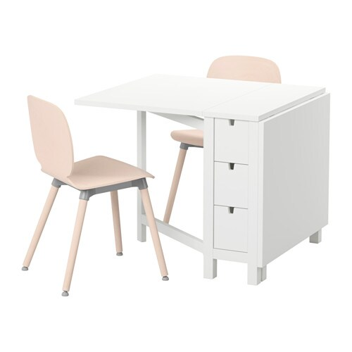 IKEA NORDEN/SVENBERTIL table and 2 chairs