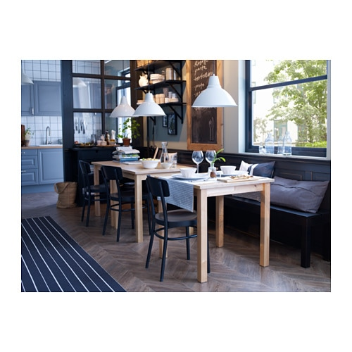 Ikea norden table solid wood is a hardwearing natural for Table norden ikea