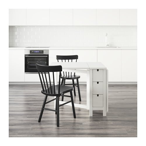 bänk ikea norden ~ nordennorraryd table and 2 chairs whiteblack 89 cm  ikea