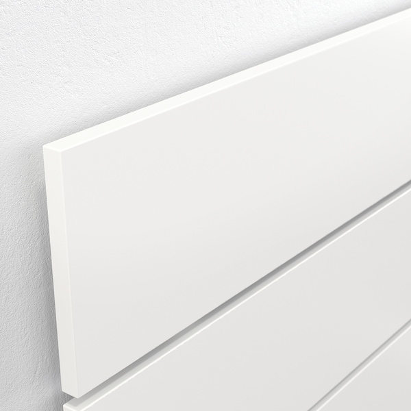 NORDLI Bed frame w storage and headboard, white, 90x200 cm