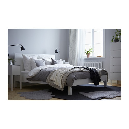 Ikea Orgel Vreten Floor Lamp Natural Steel ~ IKEA NORDLI bed frame Adjustable bed sides allow you to use mattresses