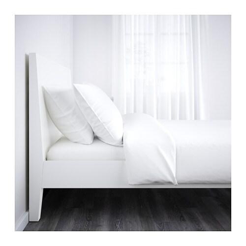 nordli bed frame white l nset 140x200 cm ikea. Black Bedroom Furniture Sets. Home Design Ideas