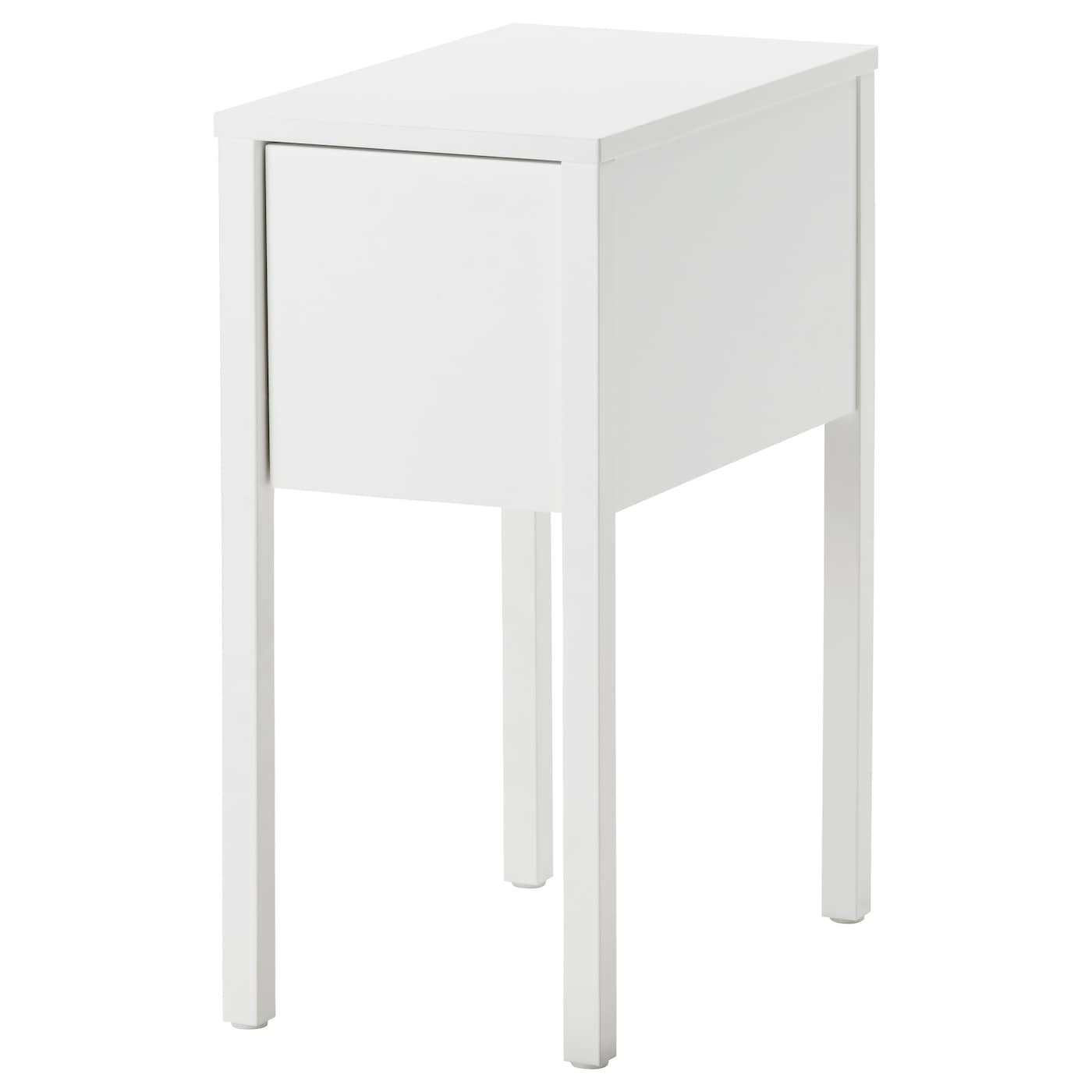 Nordli bedside table white 30x50 cm ikea - Petite table de nuit ...