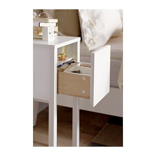 Nordli bedside table white 30x50 cm ikea - Table de chevet kartell ...