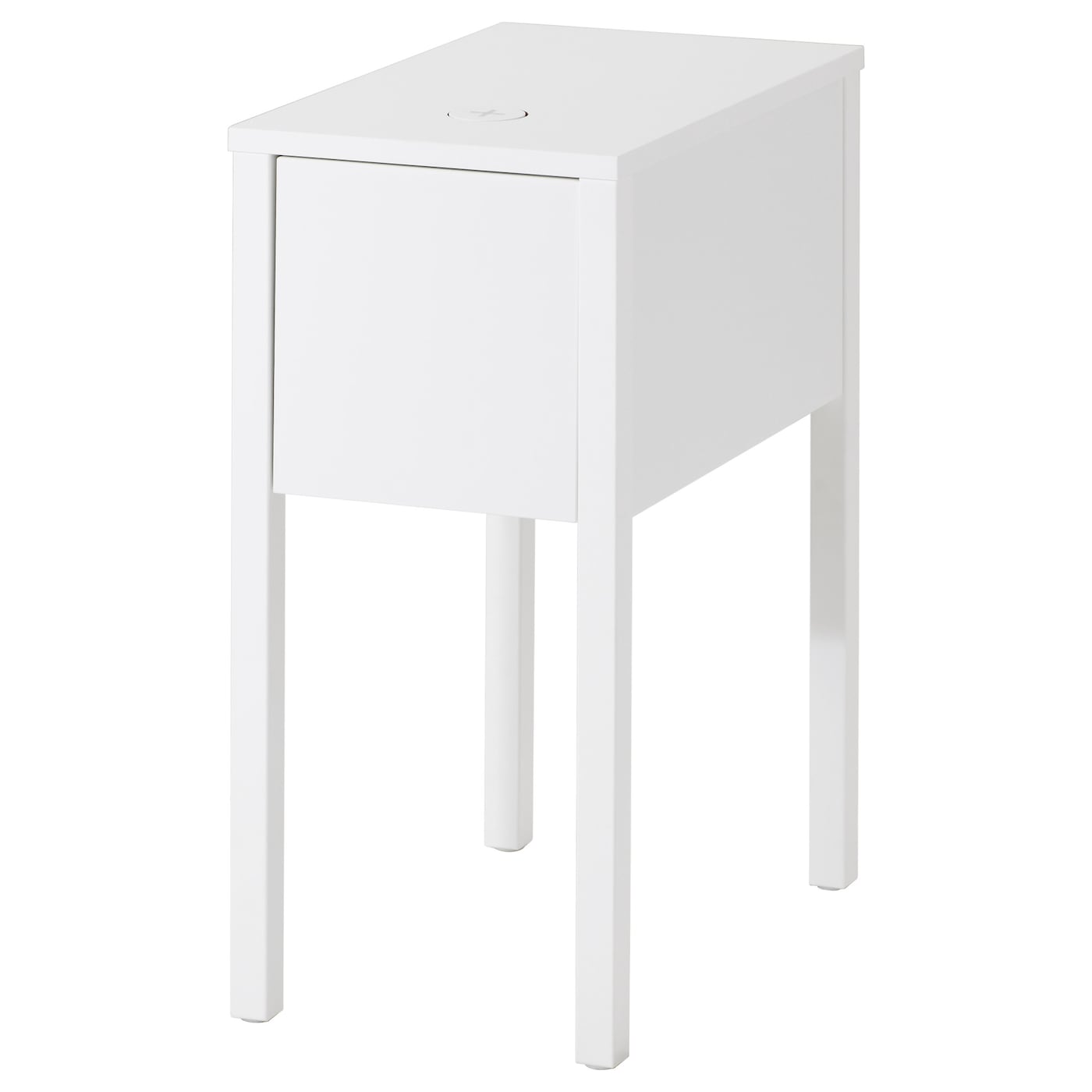 IKEA NORDLI bedside table with hole for charger
