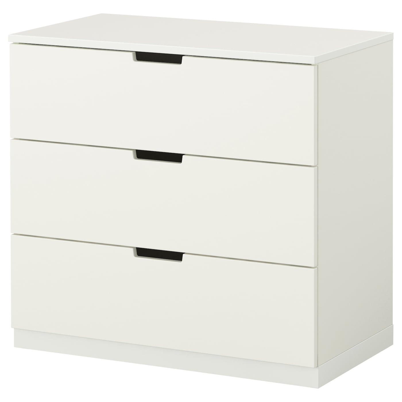 Nordli chest of 3 drawers white 80x75 cm ikea for Kommode 100 x 60